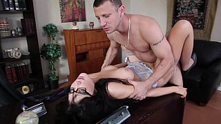 Diana is using her pussy at work