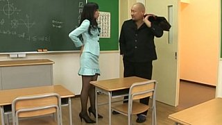 Japanese girl in pantyhose