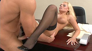 Angelina Ash getting fucked on a desk