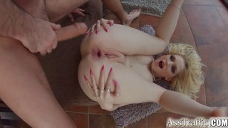 Blond whore Rossella fucked in her ass