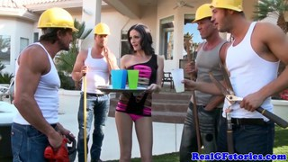 Hailey banged by construction workers