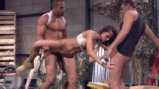 Jennifer Dark construction site threesome