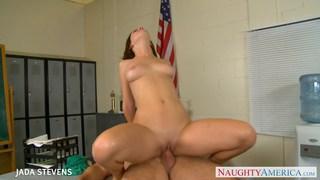Slim brunette Jada Stevens fuck in classroom