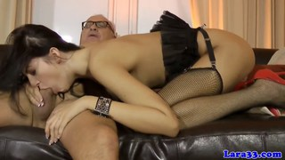 Glam threesome with Meg and Lara