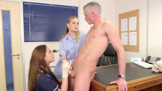He gets his balls checked drained