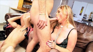 British gals pounded by two guys