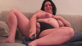 BBW wife toying