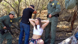 Bella Danger gets arrested and undressed by a border patrol