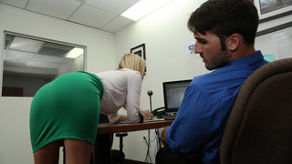Guy got caught jerking off to his secretary