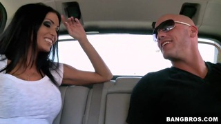 Jessica Jaymes giving head in a car