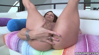 Heavy chested Lylith Lavey teases with her big ass