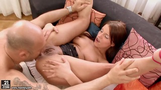 Angel Rivas feels dildo and dick into ass