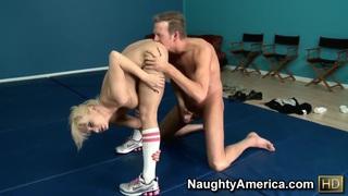 Naughty girl Lea Lexis is sucking hard