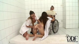 Cathy Heaven, Tiffany Doll & pal fuck in hospital