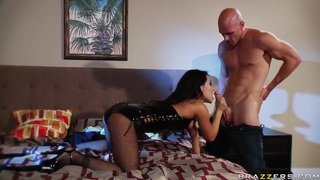 Lusty asian Asa Akira bives head to Johnny Sins