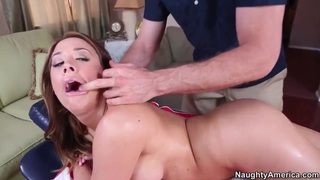 Jordan Ash's hand sticks in Chanel Preston's butt