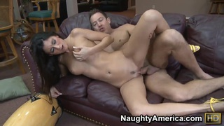 Petite brunette babe Nikki Daniels getting hardcore banging from Will Powers
