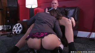 Nasty Allie Haze seduces her boss Johnny Sins