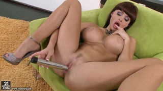 Amazing Aletta Ocean toys her dripping wet snatch