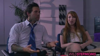 Redhead Darla and horny Gwen loves to share one big cock