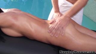 Busty massage honey outdoor riding masseur