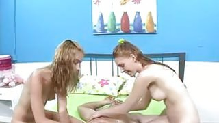 Cute Young Girls In A Threesome