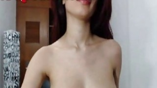 Hot Webcam Girl Shakes Her Boobies