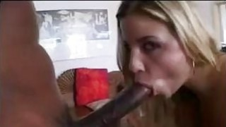 Blonde With Two Big Black Dicks