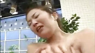 Busty Japanese Girl Played With
