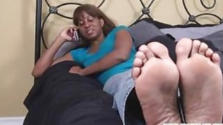 Ebony Chick Teasing Her Feet