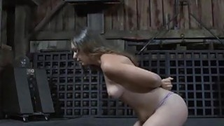 Breasty gal loves getting bizarre pussy torture