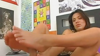 Sienna Sweet doing some nice footjob