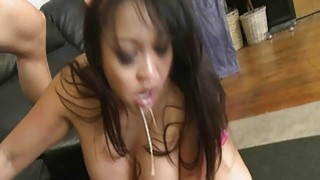 Asian pornstar Mika Tan nasty face fuck