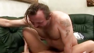 One legged man fucks a gorgeous redhead caregiver