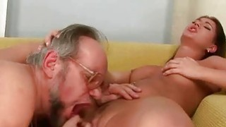 Linda Ray enjoys hot sex with horny grandpa