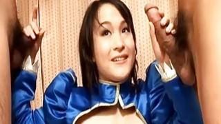 Nohara Kurumi sucks and strokes two tools