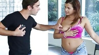 Kinky busty teen Keisha Grey handcuffs and pounded rough