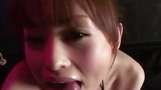 Miina Yoshihara deals cock between her lips in rough ways