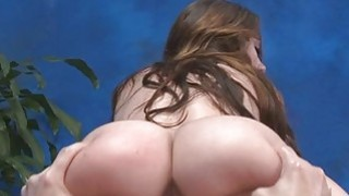 Massage babe looks nice being impaled on hard dong