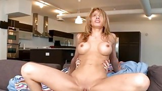 Chick is relishing dudes penis with wet blowjob