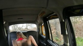 Huge tits blondie babe fucked and jizzed by pervert driver