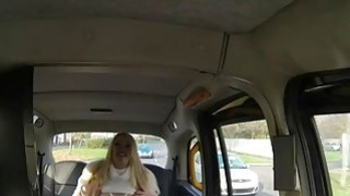 Fake taxi driver fucks massive boobs blonde passenger