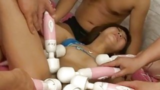 Mahiru Tsubaki enjoys men to devour her wet vag
