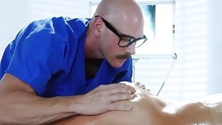 Audrey gets special oily massage sex horny orderly Johnny