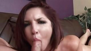 Giselle Leon does slow and sloppy deepthroat BJ