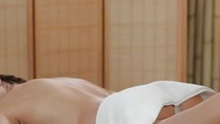 Blonde masseuse gets fingered