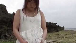 Mayuka sensual POV cock sucking outdoor session