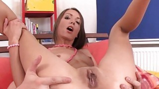 Playgirl tames a pecker with her wazoo hole