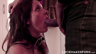 Kinky teasing for submissive red head