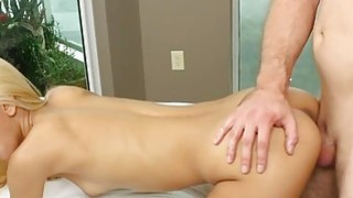Hard backstroke and creampie for Uma Jolie